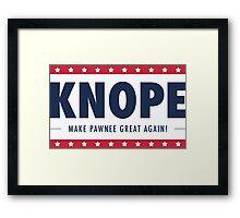 Knope for President Framed Print