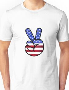 American peace sign Unisex T-Shirt