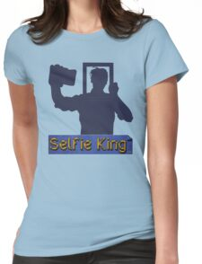 Funny Unique Blue and Gold Selfie King T-shirt Womens Fitted T-Shirt