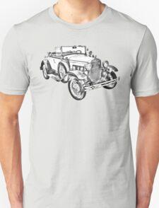 1931 Ford Model A Cabriolet Illustration T-Shirt