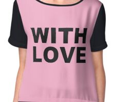 With love black Chiffon Top