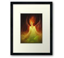 Flame Woman Framed Print