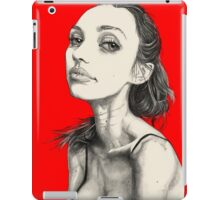 Arina from the White Sea, in Red iPad Case/Skin