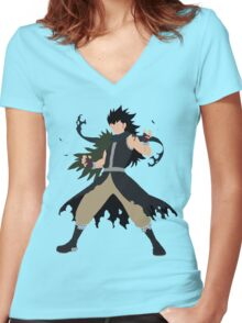 Fairy Tail Gajeel Women's Fitted V-Neck T-Shirt