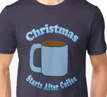 Christmas Starts After Coffee Unisex T-Shirt
