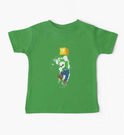 Luigi Paint Splatter Shirt Baby Tee