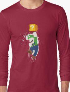 Luigi Paint Splatter Shirt Long Sleeve T-Shirt