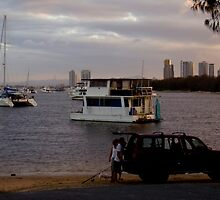 Boats in the Seaway  Gold Coast by MardiGCalero