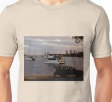 Boats in the Seaway  Gold Coast Unisex T-Shirt