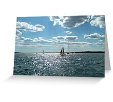 Red Sails in the Sunlit Bay Greeting Card