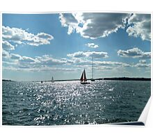 Red Sails in the Sunlit Bay Poster