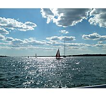 Red Sails in the Sunlit Bay Photographic Print