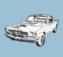1966 Ford Mustang Fastback Illustration Baby Tee