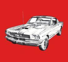 1966 Ford Mustang Fastback Illustration T-Shirt