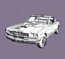 1966 Ford Mustang Fastback Illustration Kids Clothes