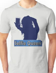 Funny Unique and Cool Blue and Gold Selfie Queen T-shirt Unisex T-Shirt