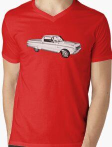 1962 Ford Falcon Pickup Truck Illustration Mens V-Neck T-Shirt