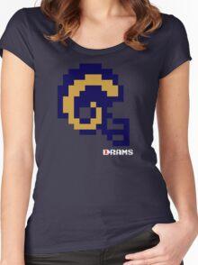 LA Current Helmet - Tecmo Bowl shirt Women's Fitted Scoop T-Shirt