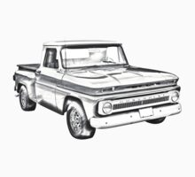 1965 Chevrolet Pickup Truck Illustration One Piece - Short Sleeve