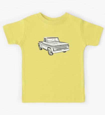 1965 Chevrolet Pickup Truck Illustration Kids Tee