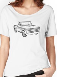 1965 Chevrolet Pickup Truck Illustration Women's Relaxed Fit T-Shirt