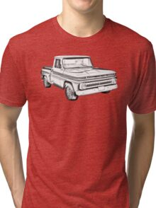 1965 Chevrolet Pickup Truck Illustration Tri-blend T-Shirt