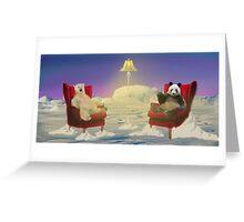 Panda and Polar Greeting Card