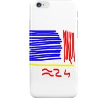 Approximately 24 - Red, Yellow, Blue  iPhone Case/Skin
