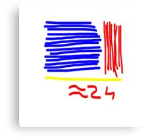 Approximately 24 - Red, Yellow, Blue  Canvas Print