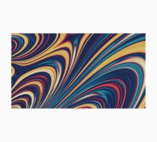 Color and Form - Curved Waves Flowing Lines  Kids Clothes