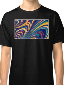 Color and Form - Curved Waves Flowing Lines  Classic T-Shirt