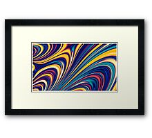 Color and Form - Curved Waves Flowing Lines  Framed Print