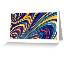 Color and Form - Curved Waves Flowing Lines  Greeting Card