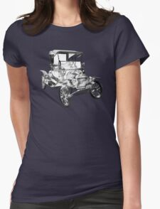 1914  Model T Ford Antique Car Illustration Womens Fitted T-Shirt