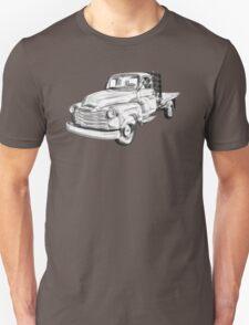 1950 Chevrolet Flat Bed Pickup Truck Illustration T-Shirt