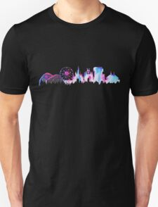 California Magic Theme Park Watercolor Skyline Silhouette Unisex T-Shirt