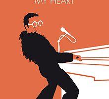 No053 MY ELTON JOHN Minimal Music poster by Chungkong