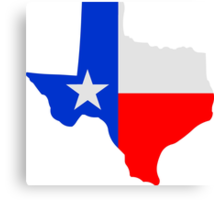 State of Texas Lone Star  Canvas Print