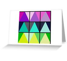 Color Block Geometric Triangles Greeting Card