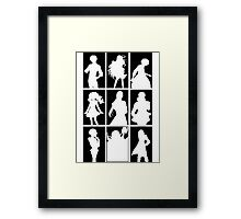 Tales of Xillia 2 - Character Roster (Black) Framed Print