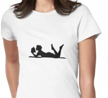 Girl Reading Womens Fitted T-Shirt