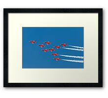 Red Arrows - Eagle Roll Framed Print