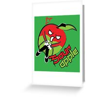 Sour Apple Greeting Card