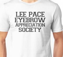 Lee Pace Eyebrow Appreciation Society  Unisex T-Shirt