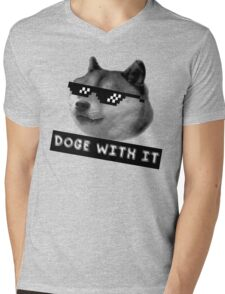 Doge with it  Mens V-Neck T-Shirt