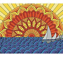 Sunset Mandala Photographic Print