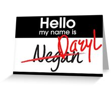 Hello My Name Is Greeting Card