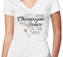 Dance On The Table Women's Fitted V-Neck T-Shirt