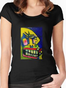 Face - Angry and Smiling  Women's Fitted Scoop T-Shirt