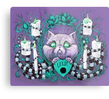 A Seance With Madame Meow-Meow, Gifted Medium Metal Print